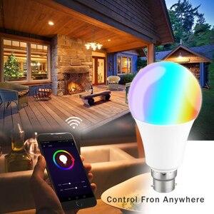 Image 4 - E27 WiFi חכם אור הנורה RGB LED מנורת 11W צבעים Dimmable הנורה בקרת קול תואם עם Alexa ו google עוזר