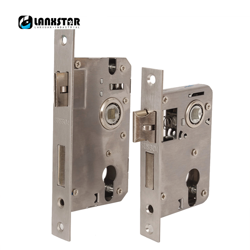 Genuine 304 Stainless Steel Indoor Lock Body Big And Small 50 Size Inverse Interpolation Bearings Silent Lock-body