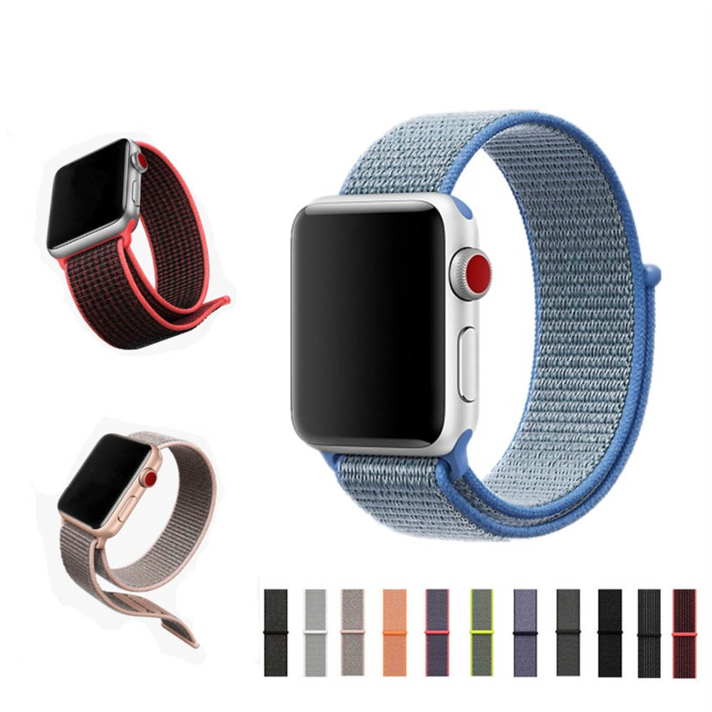 Sport Loop For Apple Watch band strap 42mm 38mm iWatch 3/2/1 bracelet nylon weave wrist watchband+breathable hook-and-loop clasp sport loop for apple watch band case 42mm 38mm nylon watch strap bracelet with metal frame protector case cover for iwatch 3 2 1