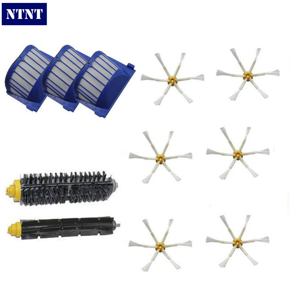 NTNT Free Post New Aero Vac Filter + Brush 6 armed kit for iRobot Roomba 600 Series 620 630 650 660 free post new aero vac filter brush 3 armed tool for irobot roomba 600 series 620 630 650