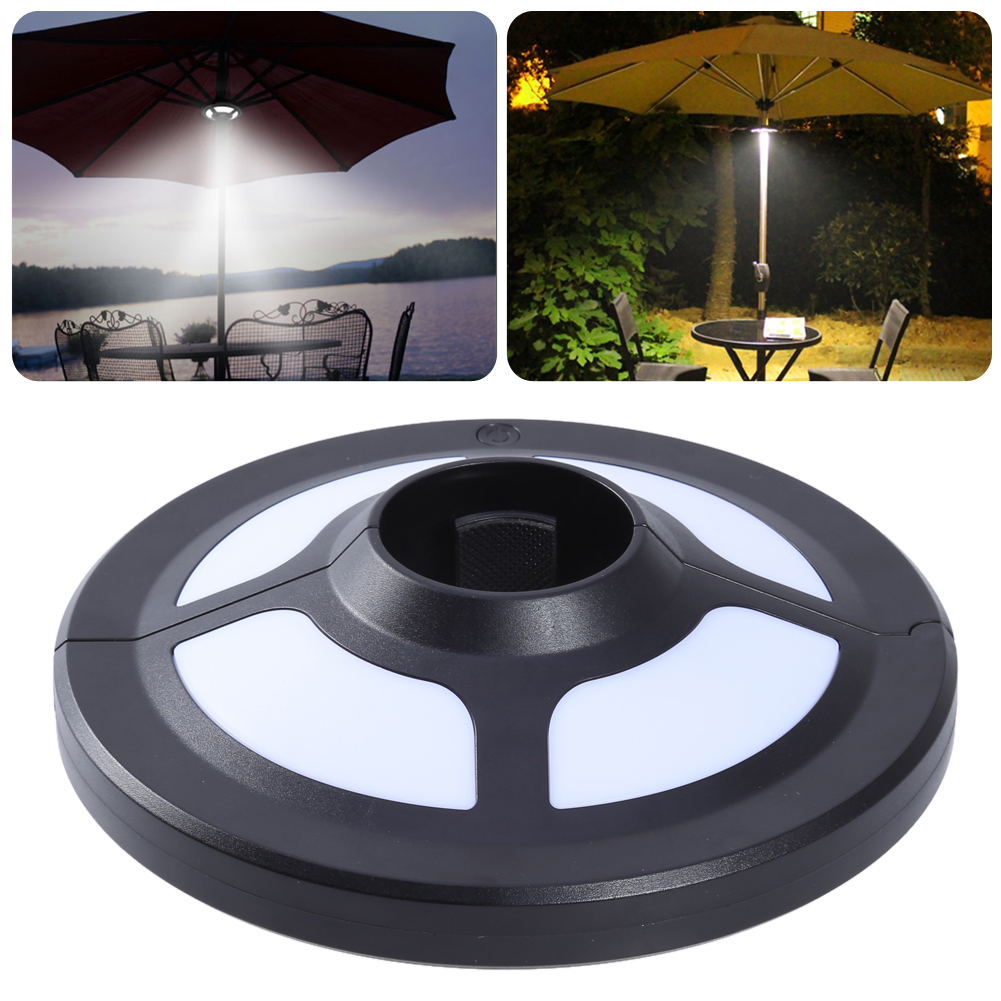New Outdoor Umbrella Pole Light Garden Portable courtyard Camping Tent Lamp Emergency Light 1.5W With 2M DC cable charging split can pull light indoor corridor courtyard lamp and emergency outdoor tent