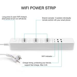 Image 2 - Rdxone akıllı Wifi güç şeridi wifi fişi soket 4 USB portu ses kontrolü Alexa ile çalışır, Google ev zamanlayıcı