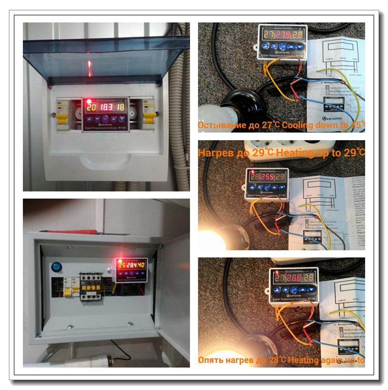HTB19.JAafvsK1RjSspdq6AZepXa8 Digital Thermostat 12V 24V 110V 220V Temperature Controller Temperature Regulator Control Switch Relay Output 10A 220VAC