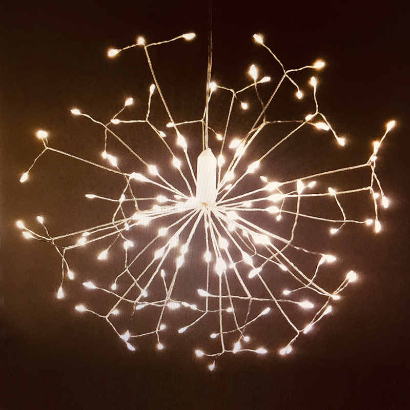 Remote Control Dandelion DIY Fireworks LED Fairy String Light Foldable Battery Powered Garden Outdoor Christmas Decoration