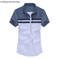 Cheap Casual Short Sleeve Shirts For Men 100 Cotton Office Lastest Service Suits Shirts Hot Sale