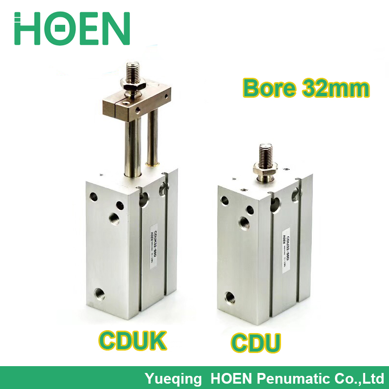 CDUK32-25D SMC type Double Acting Non-rotating Rod Type bore 32mm stroke 25mm Free Mount Cylinder Single Rod CUK32-25D enya eus 25d