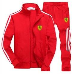 Mannen Gym Trainingspak Sport Jas Pak Set Broek Zwart Rood Wit Oranje Blauw