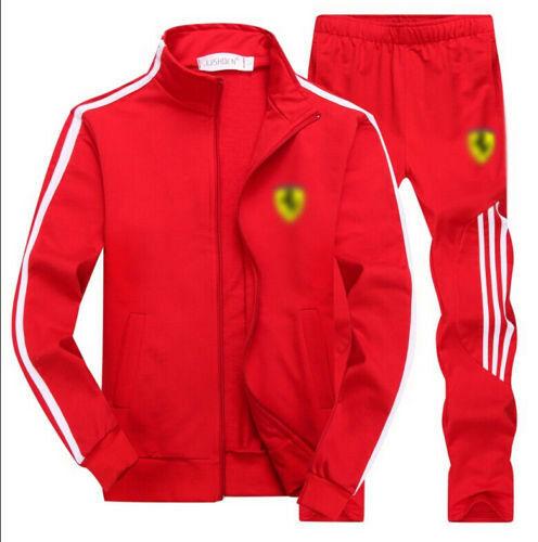 Men 39 s Gym TrackSuit Sport Jacket Suit Set Trousers Black Red White Orange Blue in Men 39 s Sets from Men 39 s Clothing