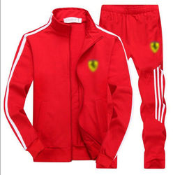 Men's Gym TrackSuit Sport Jacket Suit Set Trousers Black Red White Orange Blue