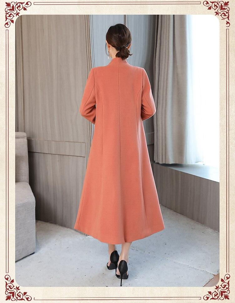 Manteaux Vêtements Black Long creamy white Nouvelles pink Haute Femelle Laine Taille Grande 4xl Broderie Femmes De Qualité D'hiver Manteau 1898 Vestes fw8gT1P