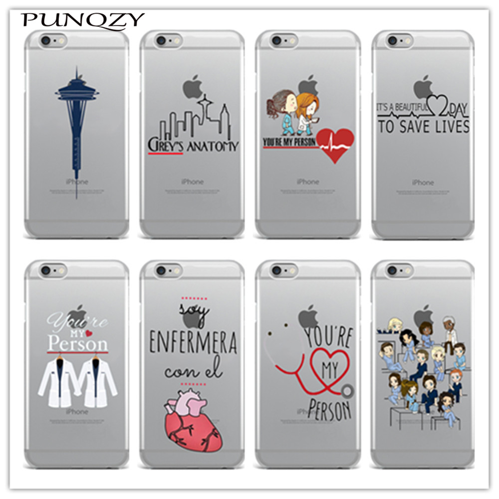 Soft TPU silicone Phone cover Grey\'s Anatomy Case For iPhone X 8 ...