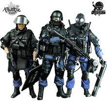 Pattiz 1/6 스케일 군사 군인 그림 장난감 세트 수집 가능한 미국 swat 팀 모델 diy 옷 인형 액션 그림 총 장난감 소년
