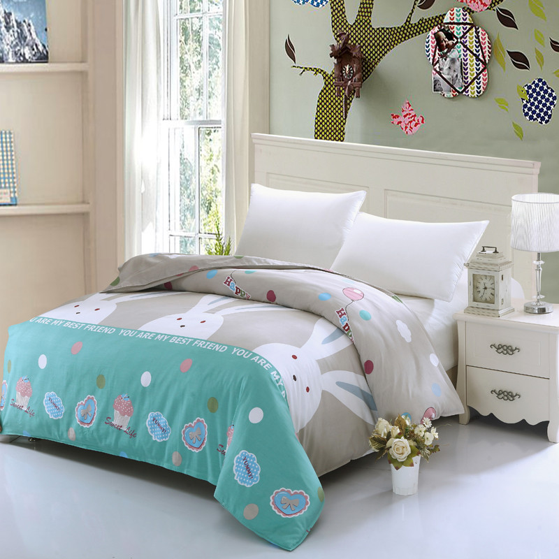 Sale lovely white rabbit cartoon Lovely princess bedding ...