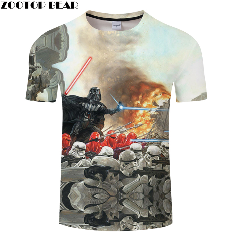 Fighting Adult T-shirt Men Summer 2019 Tops 3D Print Male Quick Dry Fitness Breathable Casual Funny Shirts Star Wars ZOOTOPBEAR
