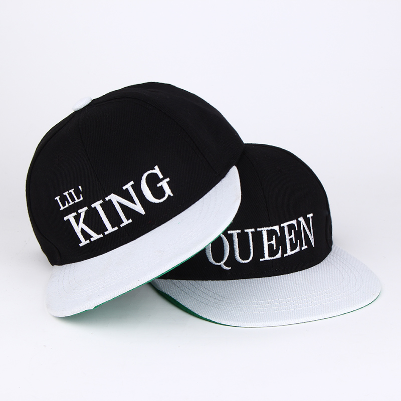 2017 new Kids king queen Snapback Cartoon Embroidery Children Cotton Baseball Cap Baby Boys Girl Snapback Caps Hip Hop Hats 2016 fashion kids cartoon snapback caps flat brim child baseball cap embroidery cotton cap baby boys girls peaked cap