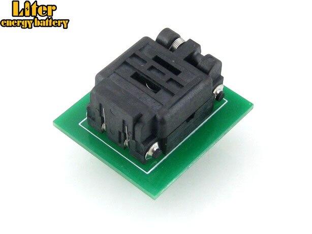 QFN8 à DIP8 (C) QFN8 MLP8 MLF8 Plastronics 08TN13A18060 IC Test adaptateur de programmation de prise de gravure pas de 1.3mm