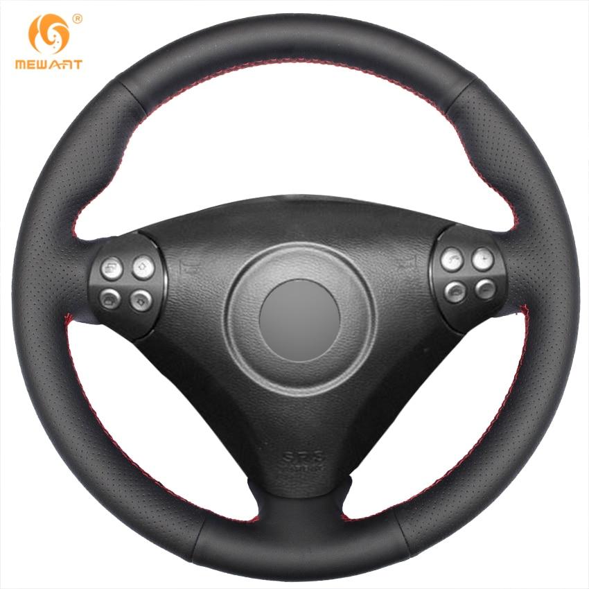 MEWANT черный подлинная кожаный руль Обложка для Мерседес-Бенц SLK-класса W171 w170 Мерседес СЛК 2004-2008 С230 компрессор Спорт