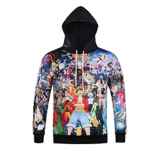new 2017 spring  One piece/pokemon Hoodie 3d printed sweatshirts Front Pocket  men tops clothing brand hooded
