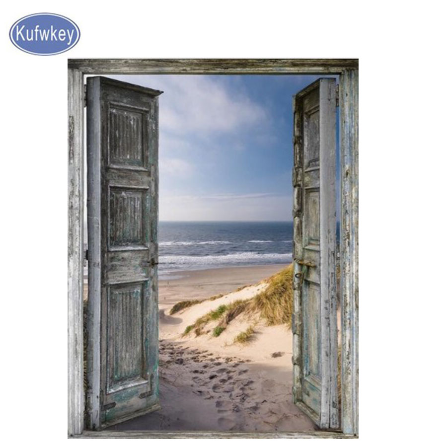 La puerta de la costa multicolor bordado de diamantes venta 5d - Artes, artesanía y costura