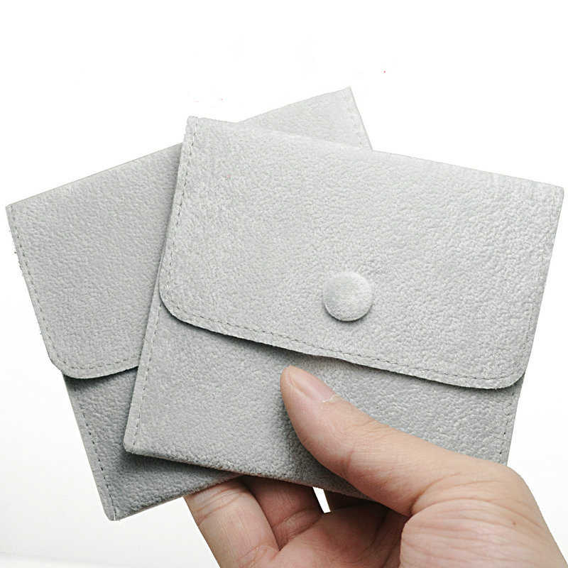 Gray Velvet Small Jewelry Gift  Pouches  Ring Necklace Pouch Bag The Beads On Hand Bag Bracelet Holder Organizer 30 pieces /lot