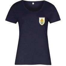 Uruguay National Footballer Kit T-Shirt Left Chest Ladies 2019 Summer