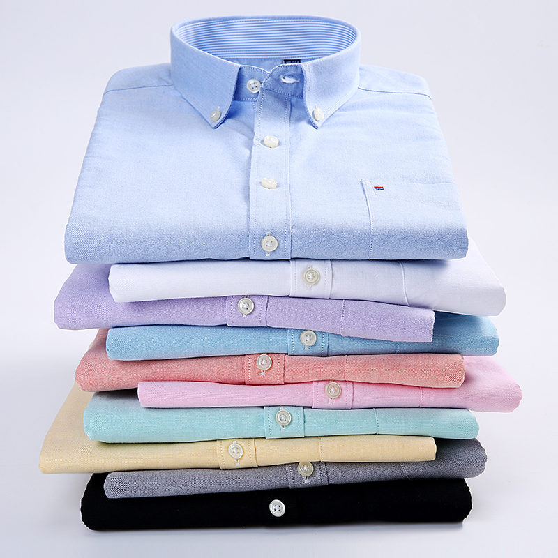 Mens Fashion Smart Casual Short Sleeved Dress Shirt Slim Fit Male Social Business Oxford Casual Shirts Brand Slim Fit Summer