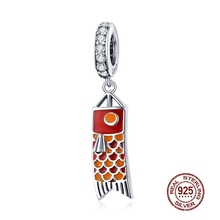 MOWIMO Bracelets en argent Sterling breloque à perles originaux, pendentif, Koinobori, fabrication de bijoux japonais, BKC1085