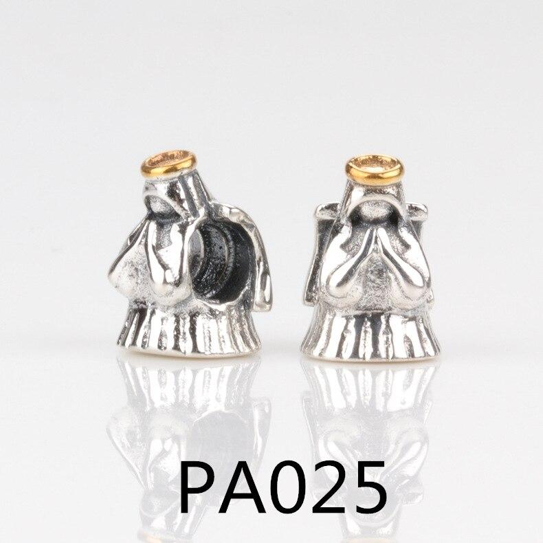 PA Ishay Bonito DIY Serve Encantos Pulseira Fazer Jóias 925 Sterling Silver Clássico Dos Desenhos Animados Originais Beads Charme Com Mix CZ