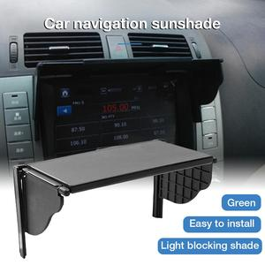 Car GPS Sunshade Cover For 5.5-10 Inch Universal Barrier Light Cover Car GPS Navigation Screen Sun Shade Visor Sunshade Hood(China)