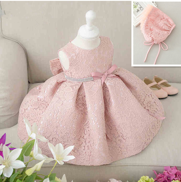 6217db72c 2017 Infant Baby Girl Birthday Party Dresses Baptism Christening Easter Gown  Toddler Princess Lace Flower Dress for 0 2 Years-in Flower Girl Dresses  from ...