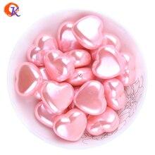 Cordial Design 70 шт./лот стиль на День святого Валентина 25 мм розовый цвет сердце акриловые жемчужные крупные бусины для DIY ювелирные изделия