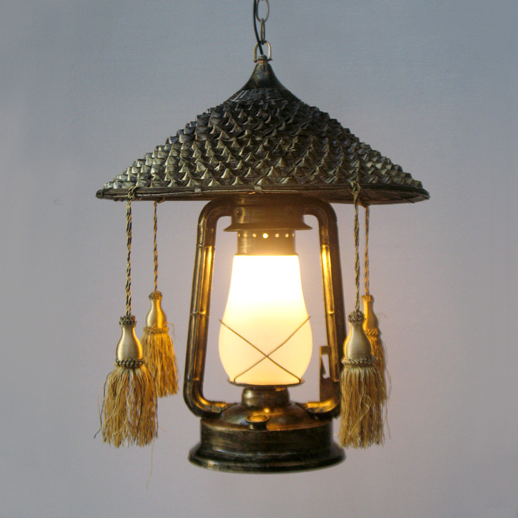 Loft Style Pendant Lamp Iron Vintage Light Creative Hat Lantern Hanging Cafe Restaurant Art Deco Lighting