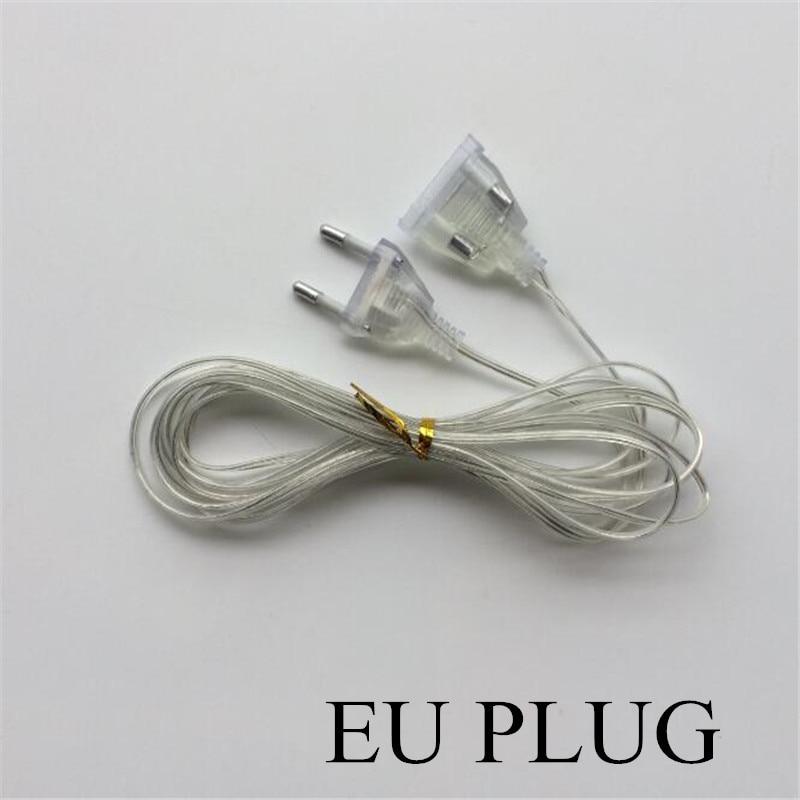 3M Extender EU Plug 220V  For LED String  Christmas Lights Garden Home Wedding Party Decoration