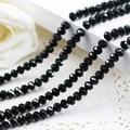 5040 AAA Top Color Negro beads.2mm Sueltas Cristal Rondelle 3mm 4mm, 6mm, 8mm 10mm, 12mm Envío Gratis!