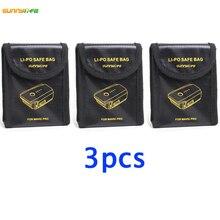 3 PCS Bateria Lipo Saco Seguro à prova de Explosão-MAVIC PRO Platinum de Proteção Saco de Armazenamento De Fibra À Prova De Fogo para DJI Quadcopter zangão