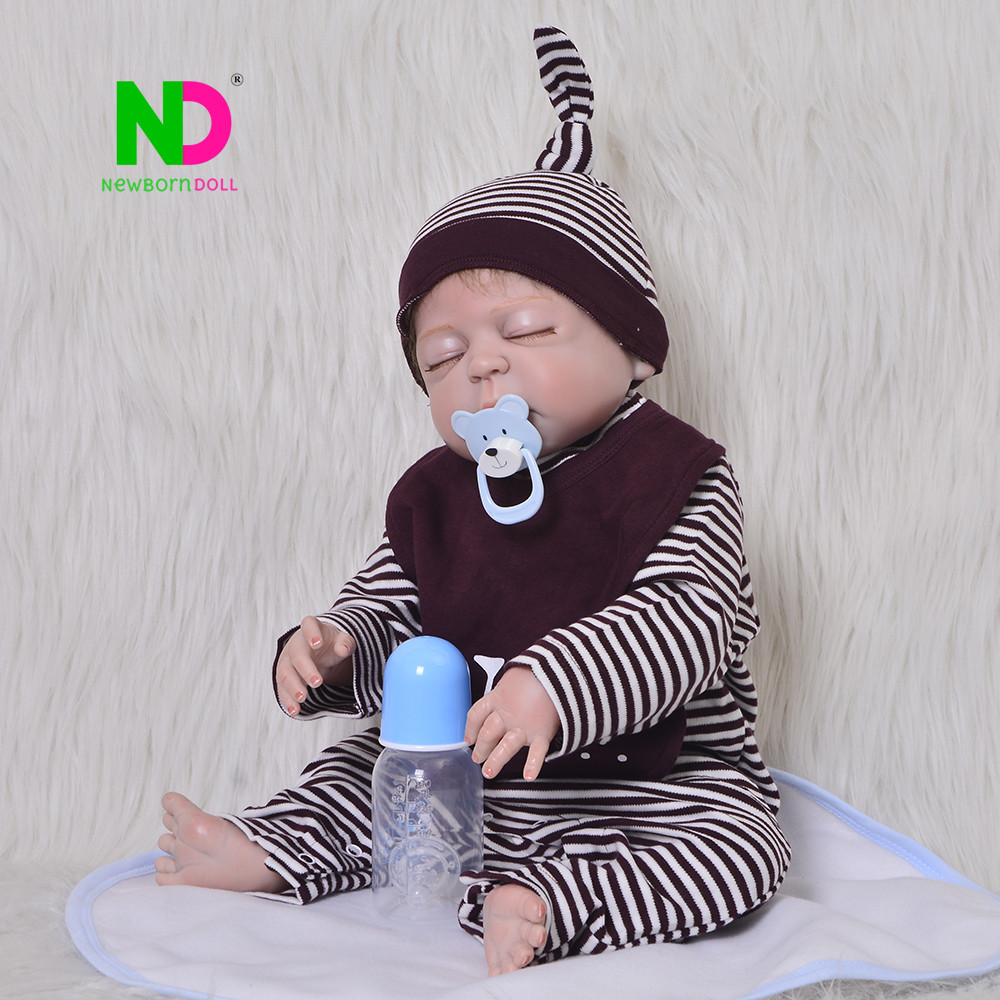 Handmade 23 inch Asleep Reborn Baby Dolls Newborn So Truly 57 cm Full Body Silicone Vinyl Babies Doll For Boy Gifts Palymates ...