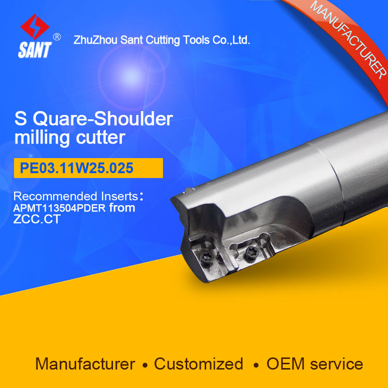 Suggested EMP05-025-XP25 Indexable Milling cutter SANT PE03.11W25.025 with APKT11T3 carbide insert for Walter high quality indexable milling cutter face milling tools bmr03 025 xp25 m for carbide insert xpht25r1204