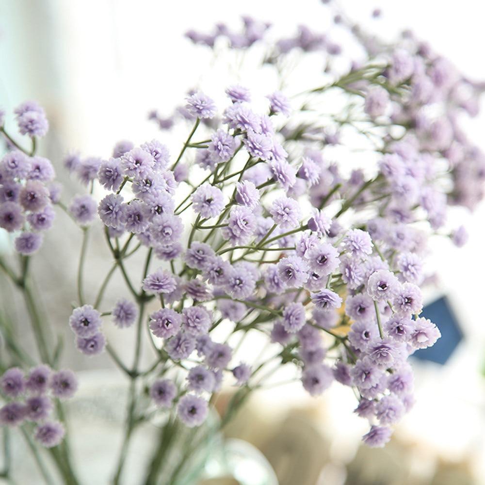 New Qualified Purple Artificial Silk Fake Flowers Babys Breath