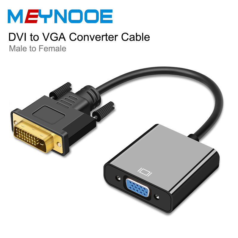 DVI Male to VGA Female 1080P Video Converter Adapter DVI 24+1 25 Pin DVI-D VGA Adapter Cable for projector TV Monitor PC Display