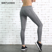 цены BINTUOSHI Heart Shape Yoga Pants Women Sports Leggings Quick Dry Gym Tight Yoga Leggings Running Pants Fitness Tights for Women