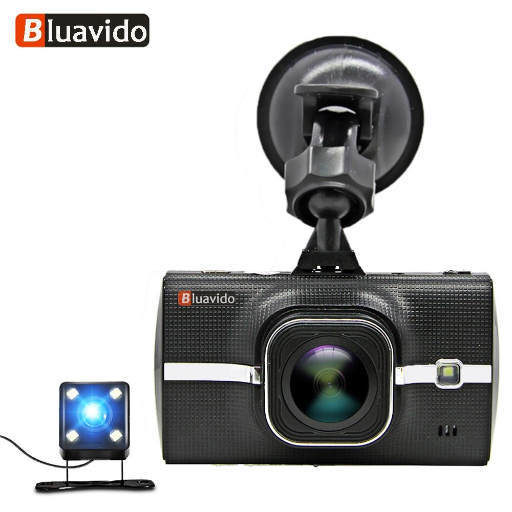 Bluavido Full HD 1080P Car DVR dash camera ADAS WDR Night vision with 720P Rear Cam