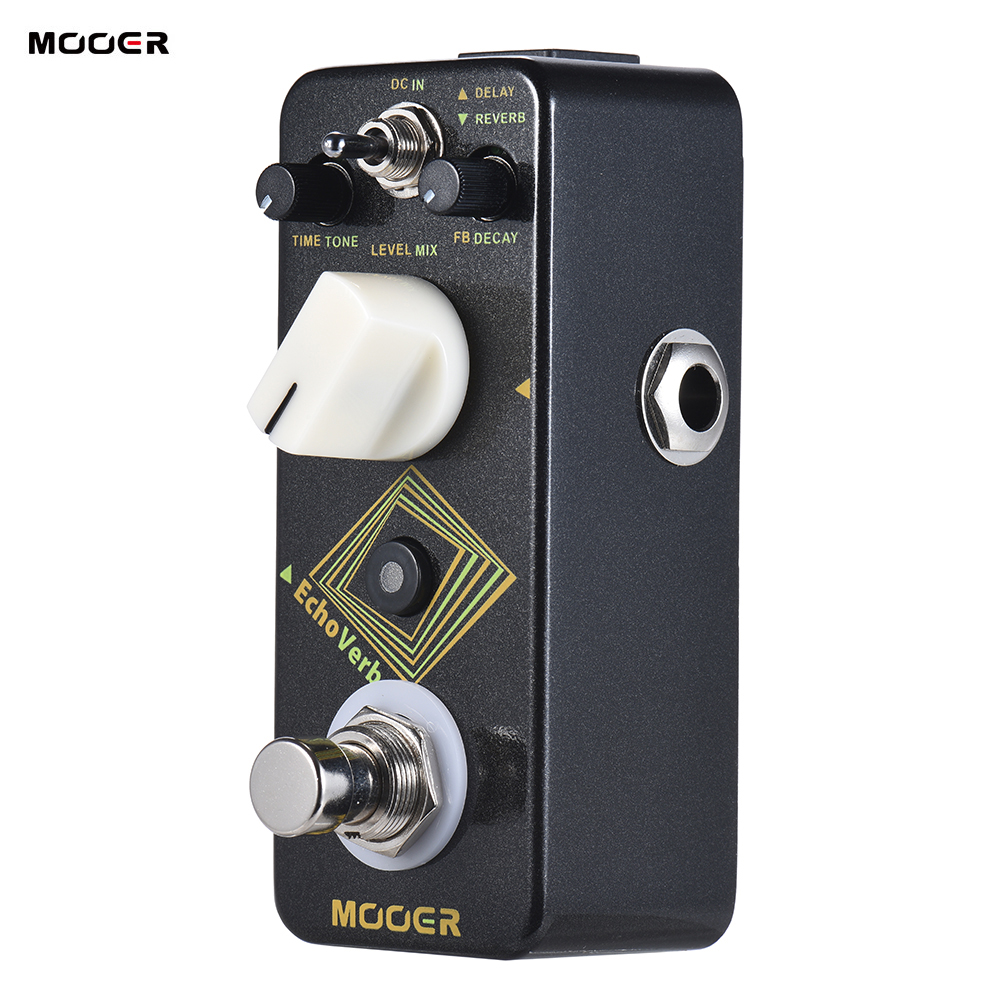 MOOER EchoVerb Digital Delay Reverb Guitar Effect Pedal True Bypass Full Metal Shell With Tap Tempo