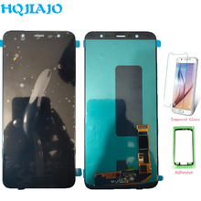 شاشة جديدة OLED LCD لسامسونج J8 2018 J810 شاشة LCD تعمل باللمس محول الأرقام لسامسونج غالاكسي J8 2018 J810 J810F J810Y الجمعية