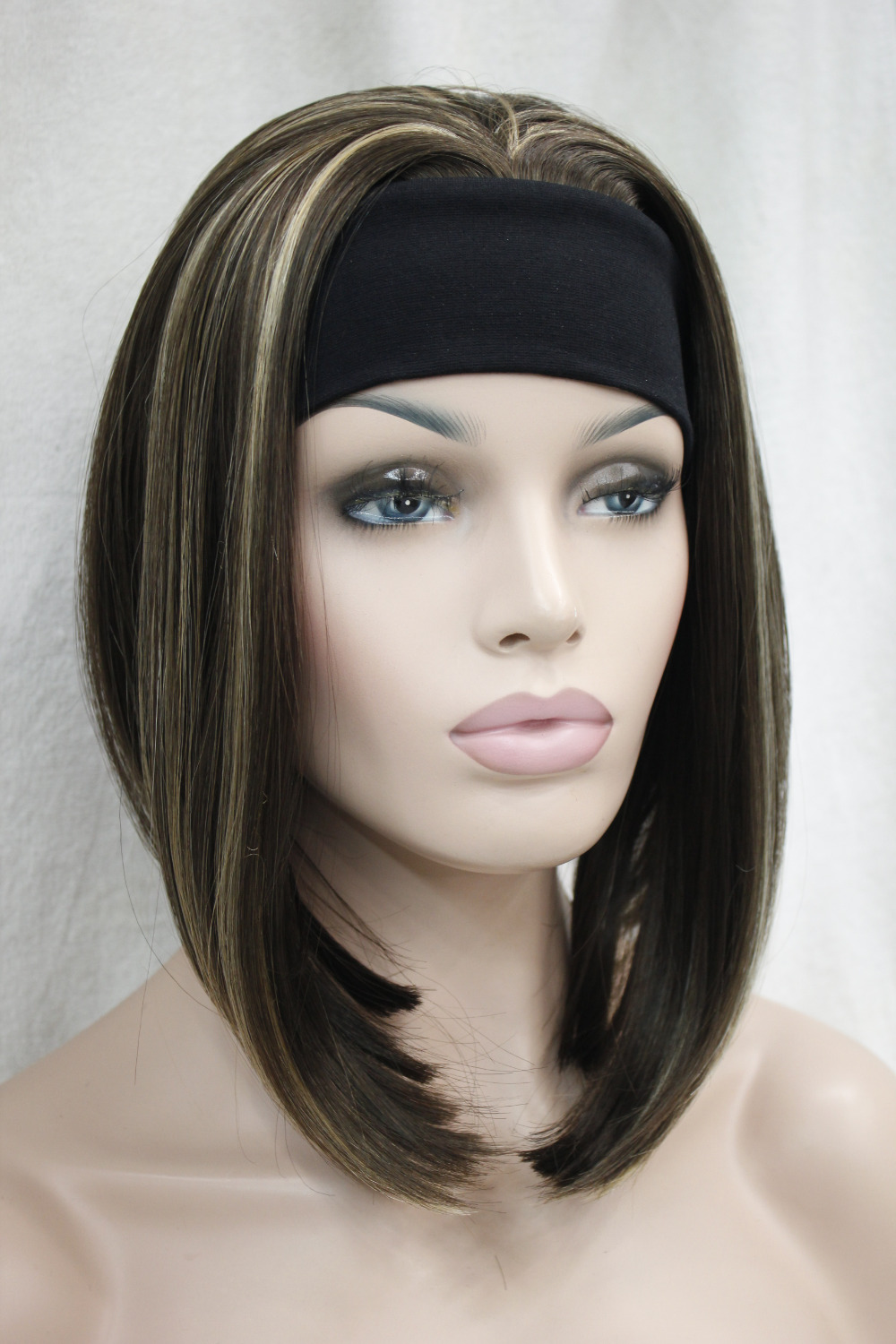 Cute Short Straight Medium Brown With Ginger Highlight 3 4