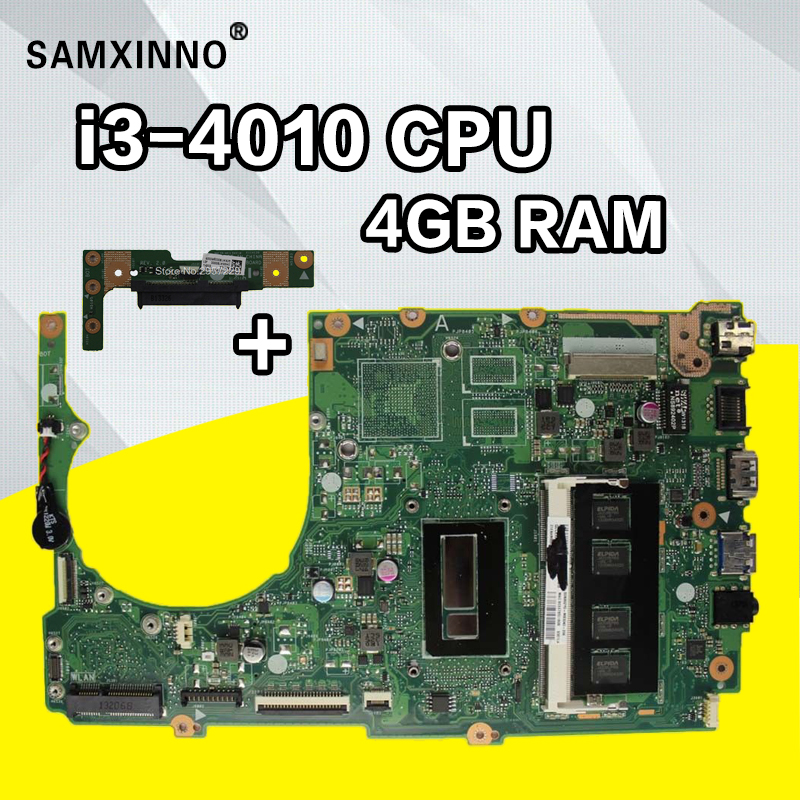 Send Board+S301LA Motherboard REV2.0 I3-4010U For ASUS Q301L S301L Q301LA Laptop Motherboard S301LA Mainboard S301LA Motherboard