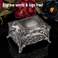 Classic fashion metal jewelry case/ jewelry box /showing display,rose flower,free engraveing,wedding gift for bride Bridesmaid