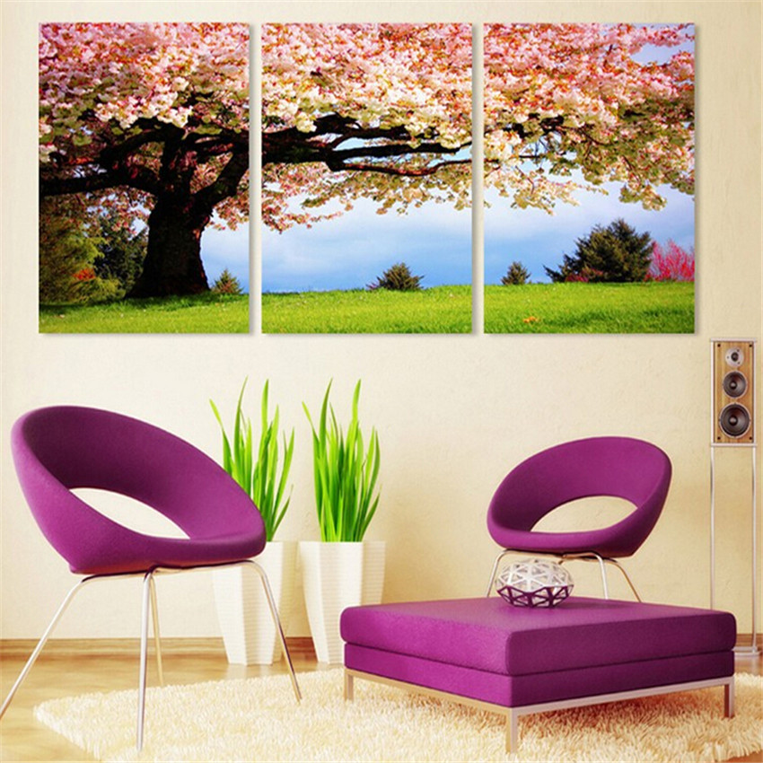 Affordable Wall Decor: Wall Art Tree Picture Cheap Canvas Printing On Canvas
