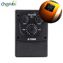 New Arrival Cherub GT-1 Acoustic Guitar Equalizer 2-Band EQ Minimal Guitar Equalizer Piezo Ceramic Pick-up with Volume Control