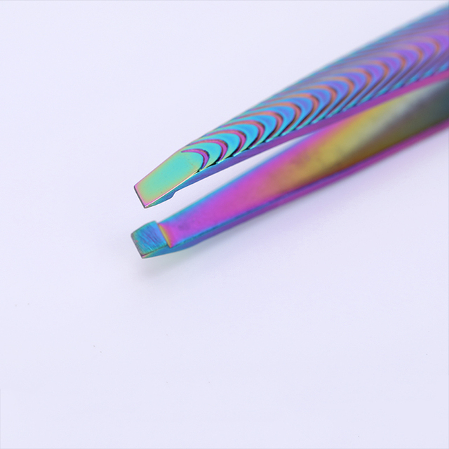 Chameleon Colorful Eyebrow Tweezer Makeup Tool Stainless Steel Incline Tip Hair Remover Cosmetic Eyebrow Clip Beauty Care Tool 1