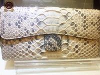 Genuine Snake Skin Long Women Wallet Famous Designer Style Triple Clutch.Outlet